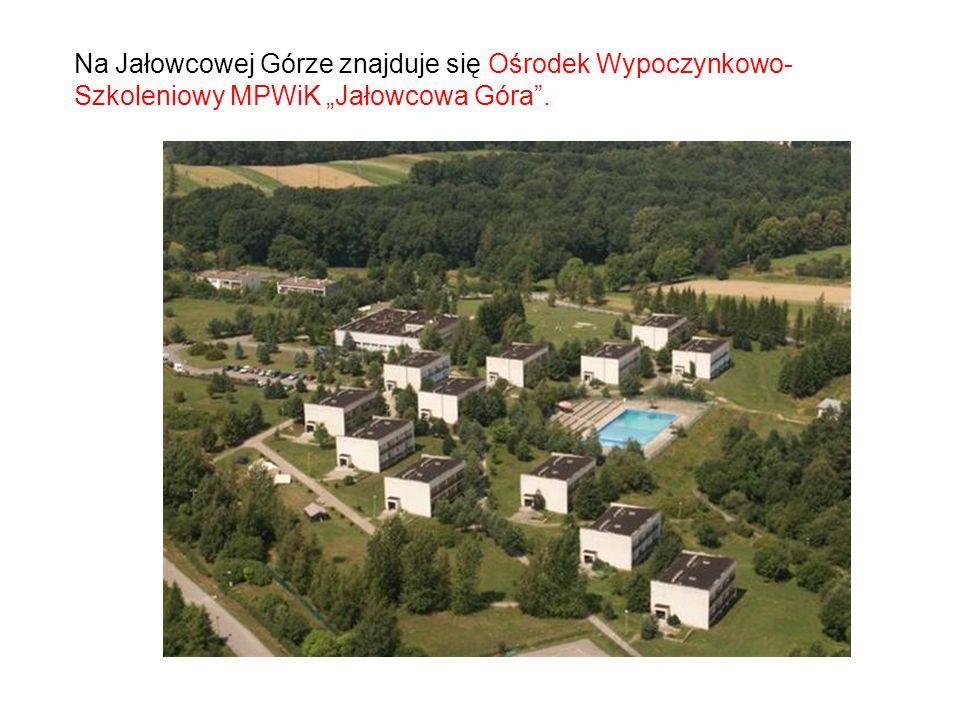 """Na Jałowcowej Górze znajduje się Ośrodek Wypoczynkowo- Szkoleniowy MPWiK """"Jałowcowa Góra""""."""