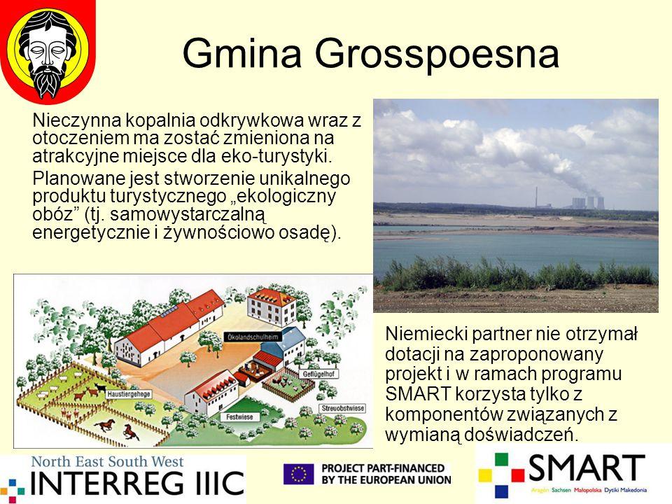 Gmina Grosspoesna Nieczynna kopalnia odkrywkowa wraz z otoczeniem ma zostać zmieniona na atrakcyjne miejsce dla eko-turystyki. Planowane jest stworzen
