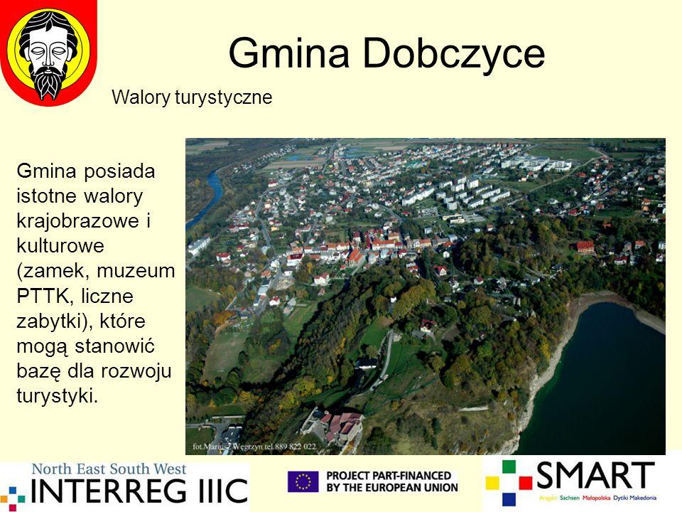 Gmina Dobczyce Gmina posiada istotne walory krajobrazowe i kulturowe (zamek, muzeum PTTK, liczne zabytki), które mogą stanowić bazę dla rozwoju turyst
