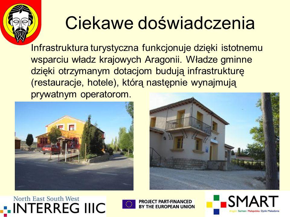 Infrastruktura turystyczna funkcjonuje dzięki istotnemu wsparciu władz krajowych Aragonii. Władze gminne dzięki otrzymanym dotacjom budują infrastrukt