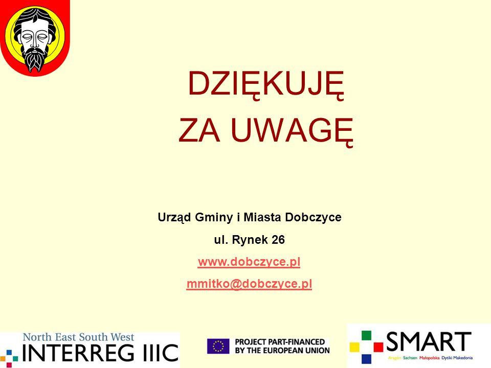 DZIĘKUJĘ ZA UWAGĘ Urząd Gminy i Miasta Dobczyce ul. Rynek 26 www.dobczyce.pl mmitko@dobczyce.pl