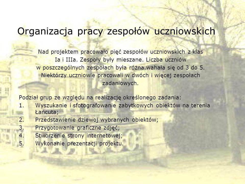 Organizacja pracy zespołów uczniowskich c.d.Zespół 1: lider Maciek C.