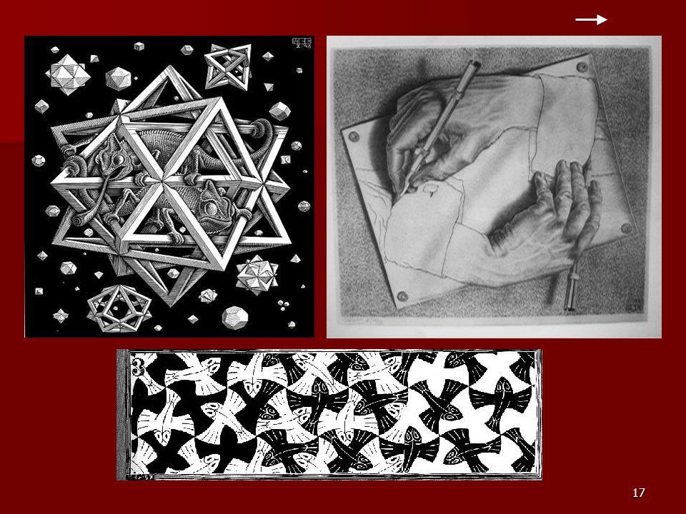 16 DZIEŁA ESCHERA Tutaj znajdziecie wybrane rysunki autorstwa samego MC Eschera: