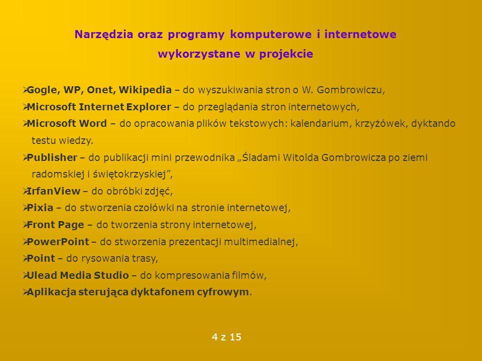 Dzięki realizacji projektu poznałam tajniki tworzenia strony internetowej.