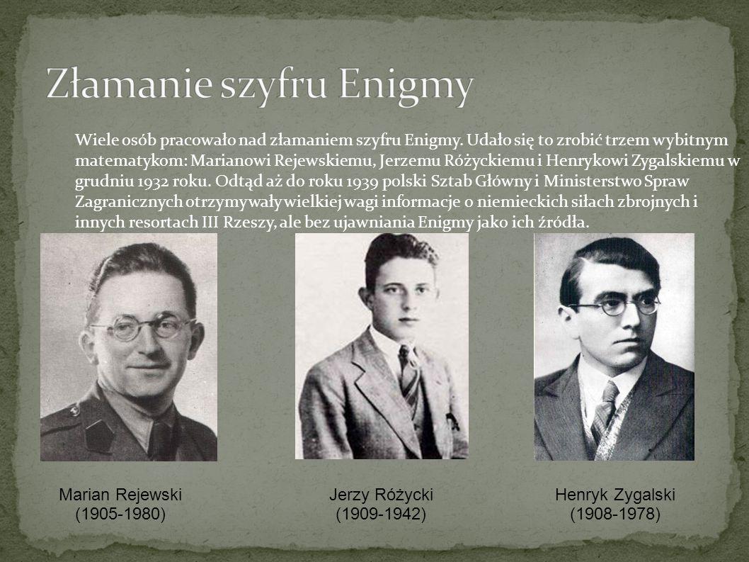 Wiele osób pracowało nad złamaniem szyfru Enigmy.