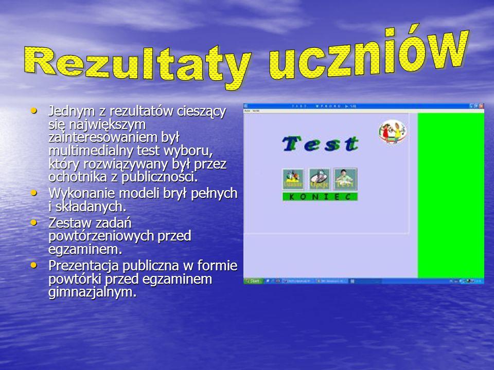 Jednym z rezultatów cieszący się największym zainteresowaniem był multimedialny test wyboru, który rozwiązywany był przez ochotnika z publiczności.