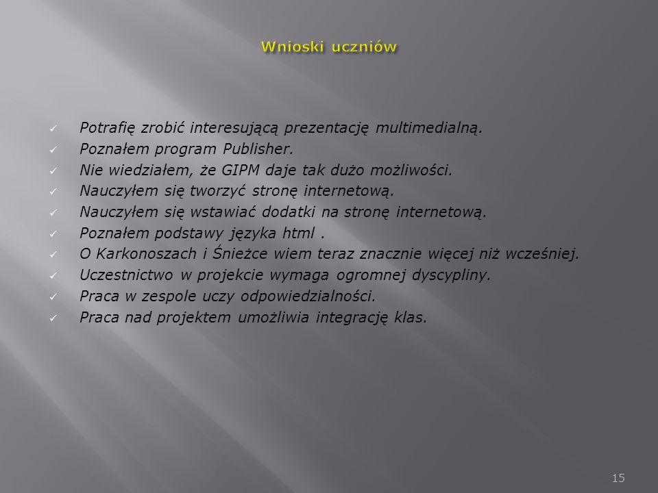 Potrafię zrobić interesującą prezentację multimedialną.