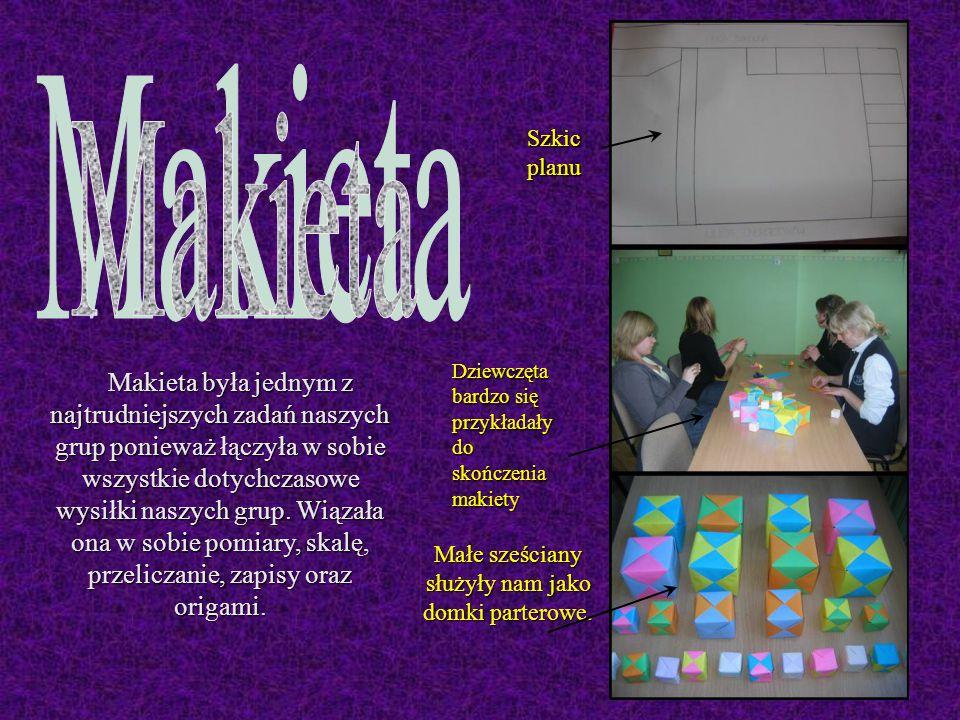 Makieta była jednym z najtrudniejszych zadań naszych grup ponieważ łączyła w sobie wszystkie dotychczasowe wysiłki naszych grup.