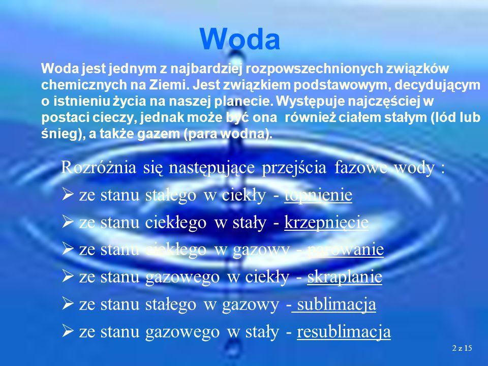 2 Woda jest jednym z najbardziej rozpowszechnionych związków chemicznych na Ziemi.