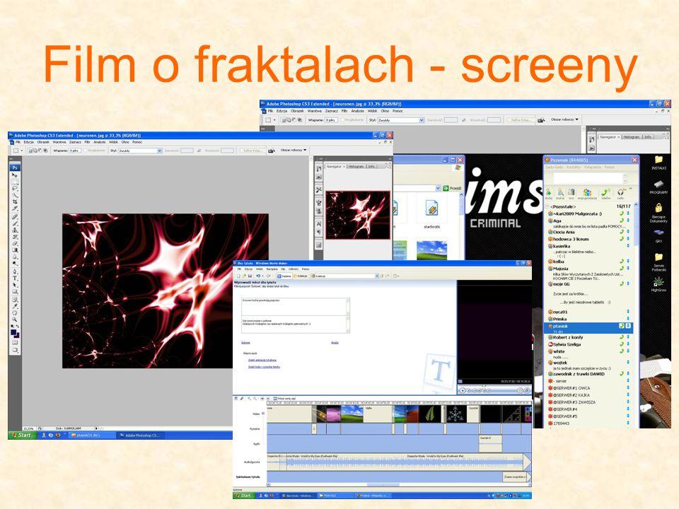 Film o fraktalach - screeny
