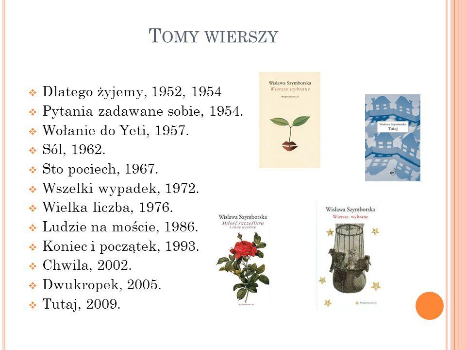 Z BIORY POEZJI  101 wierszy, 1966. Wiersze wybrane, 1967.