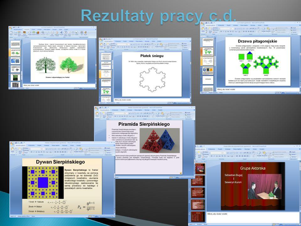 Fragmenty prezentacji Tw. Banacha Programy użyte przy projekcie