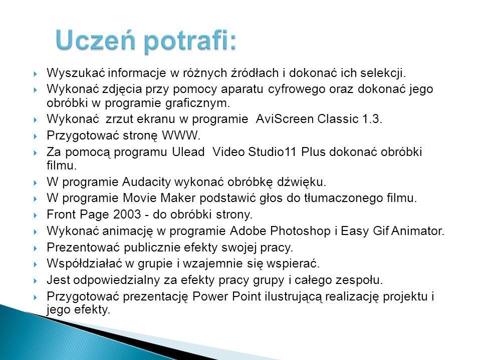 przybliżenie uczniom postaci polskich matematyków i ich wkład w rozwój tej dziedziny nauki, angażowanie uczniów do wykorzystania technik informatyczny