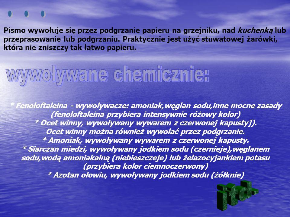 Liczne substancje fluoryzują po naświetleniu ultrafioletem.
