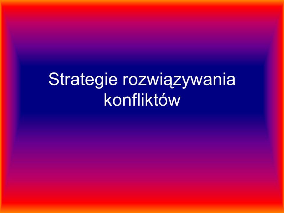Strategie rozwiązywania konfliktów