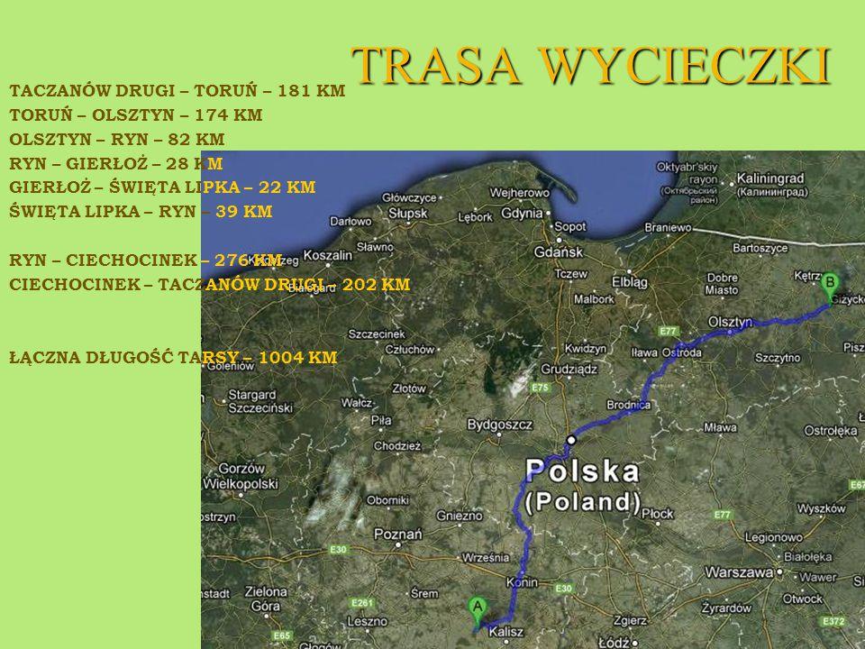 TORUŃ Jest jednym z najstarszych miast polskich.Miasto leży nad Wisłą i Drwęcą.