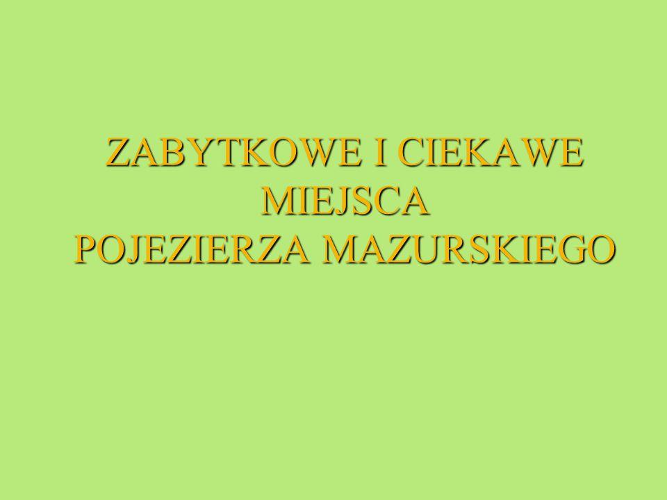 RYN RYN Jest miasteczkiem po ł o ż onym nad dwoma jeziorami: Ry ń skim i O ł ów.