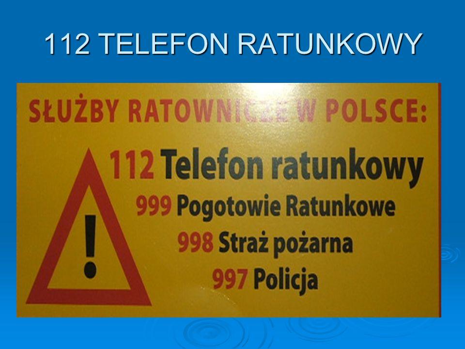112 TELEFON RATUNKOWY