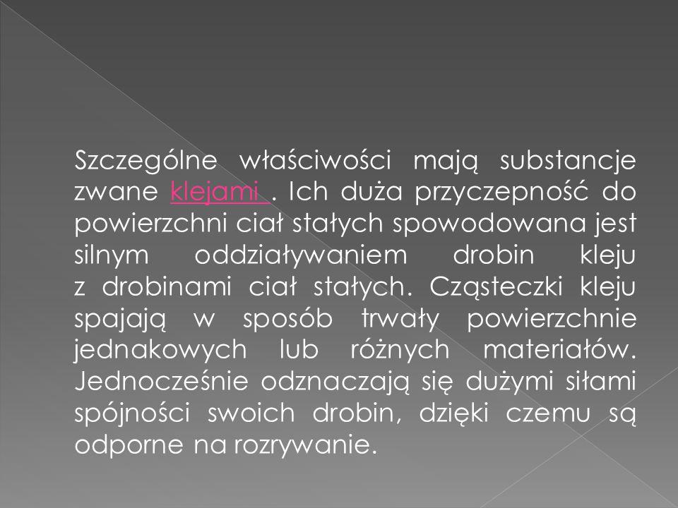 Podaj nazwy sił występujących między cząsteczkami: a) kredy ………………………………..