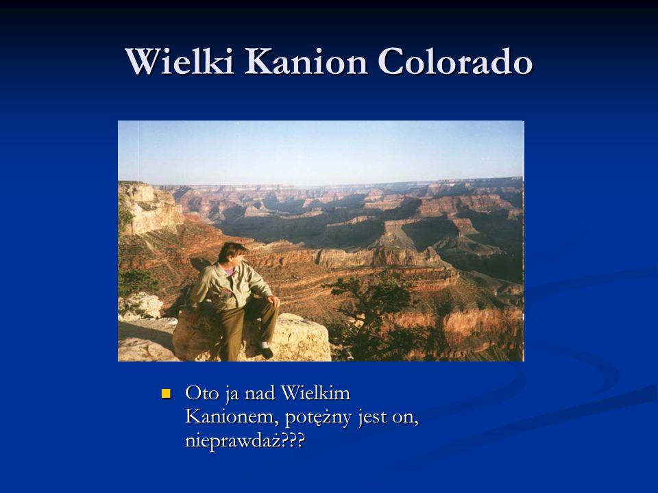 Wielki Kanion Colorado Oto ja nad Wielkim Kanionem, potężny jest on, nieprawdaż??? Oto ja nad Wielkim Kanionem, potężny jest on, nieprawdaż???