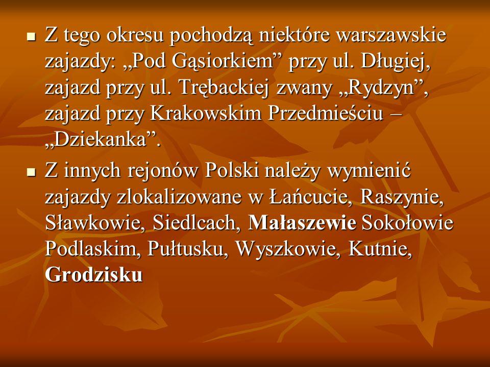 Zajazd w Małaszewie LEGENDA: 1.SIEŃ, 2. IZBA KARCZEMNA, 3.