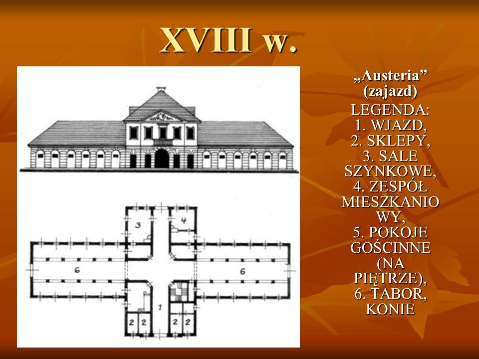 """1785 – 1787 r.Został zbudowany wg projektu S.B. Zuga hotel """"Pod Orłem Białym przy ul."""