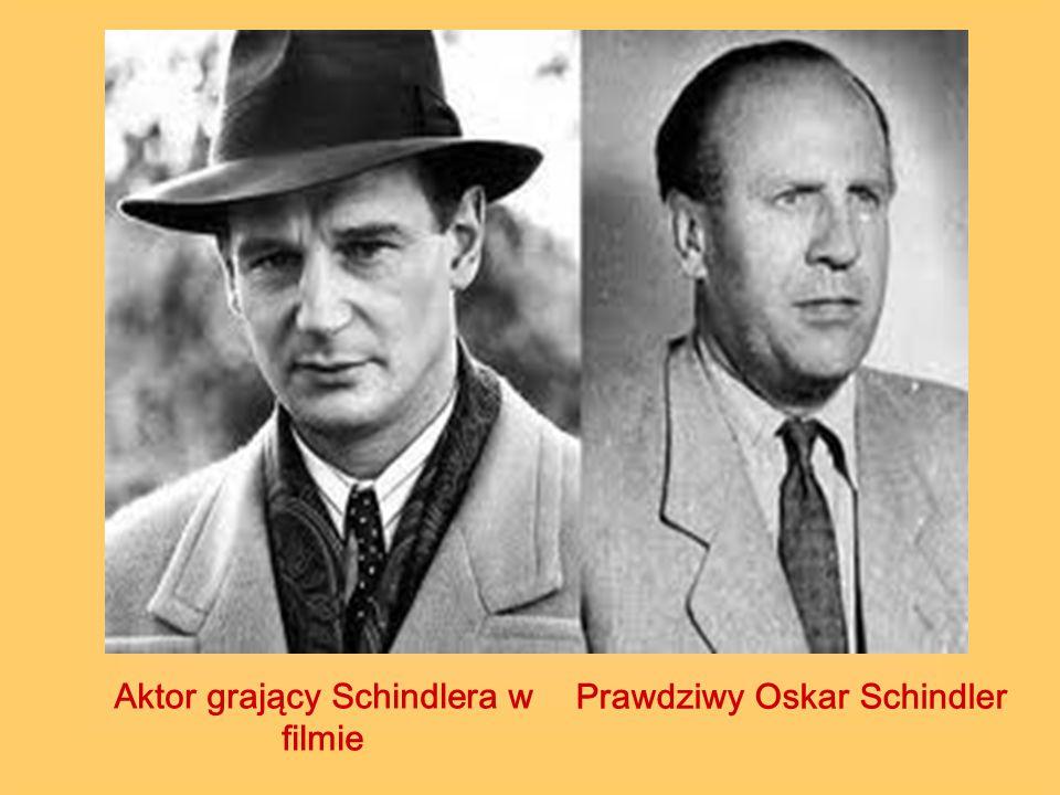 Aktor grający Schindlera w filmie Prawdziwy Oskar Schindler