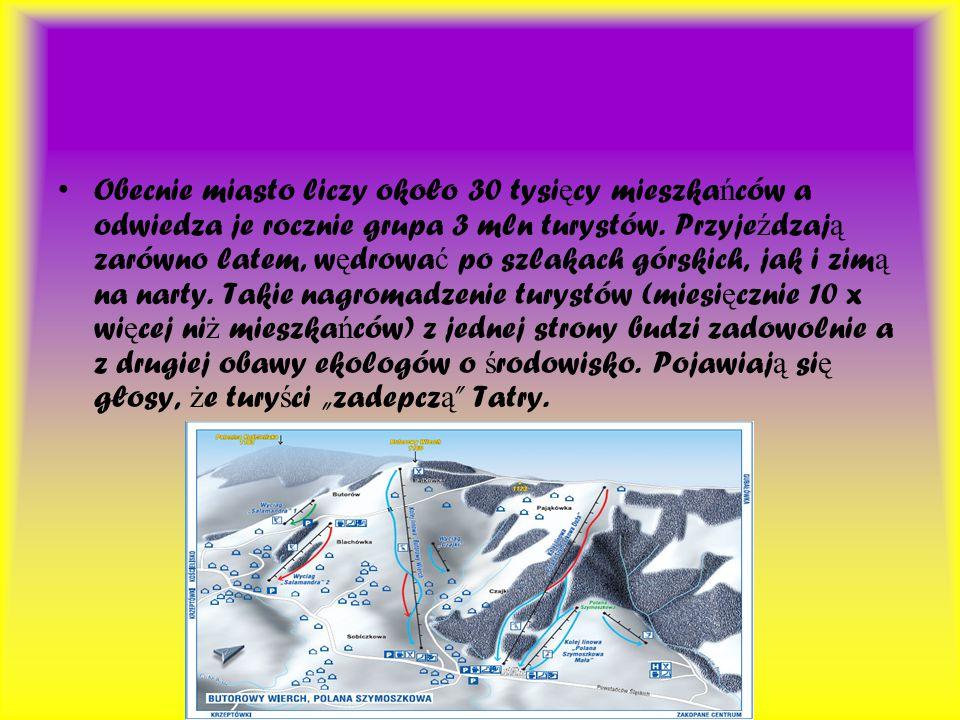 Zakopane jest te ż wa ż nym o ś rodkiem sportowym w naszym kraju, w 1929 roku zostało gospodarzem Mistrzostw Ś wiata w narciarstwie klasycznym, nast ę pnie w 1939 i w 1962.