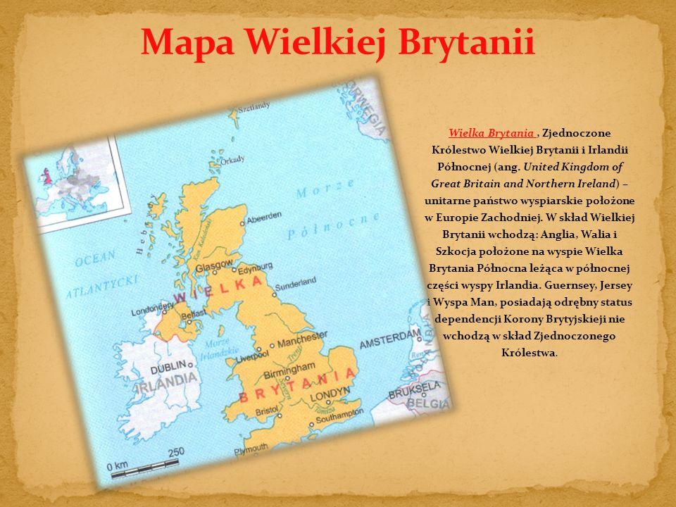 Wielka Brytania, Zjednoczone Królestwo Wielkiej Brytanii i Irlandii Północnej (ang.