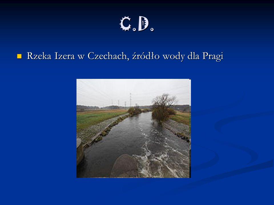 C.D. Rzeka Izera w Czechach, źródło wody dla Pragi