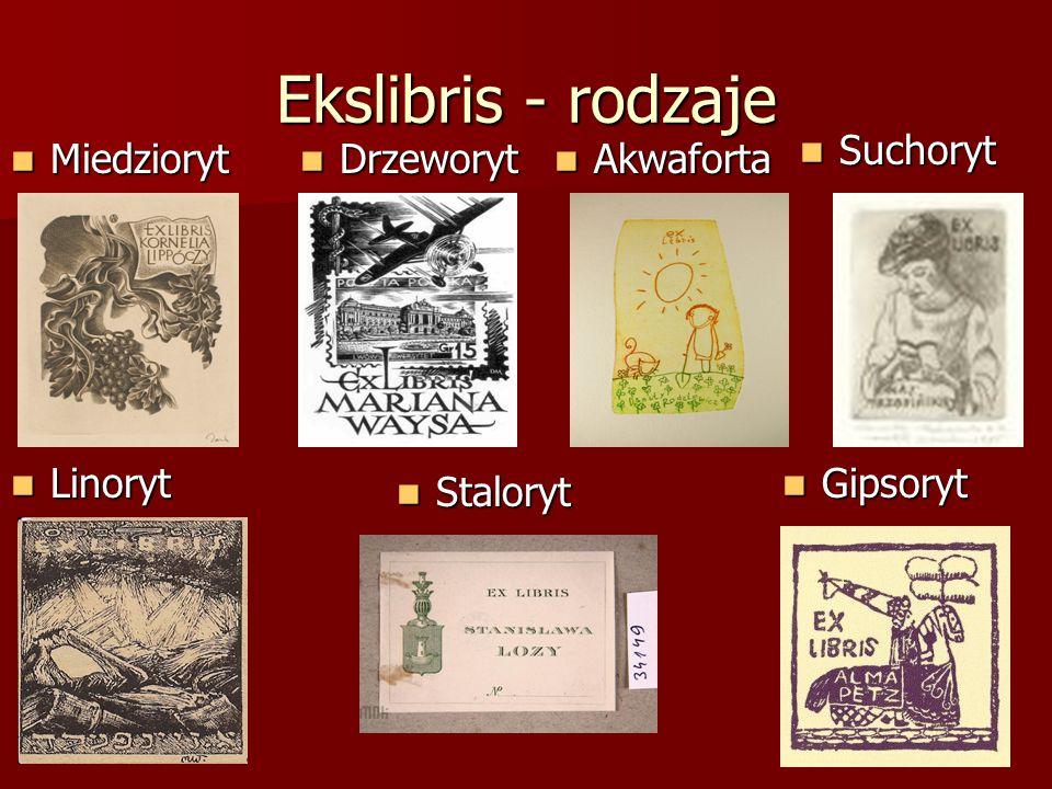Ekslibris w Polsce W połowie XIV wieku rozpowszechnił się w Polsce zwyczaj zaznaczania własności przez malowanie herbów rodowych na rękopiśmiennych kodeksach.