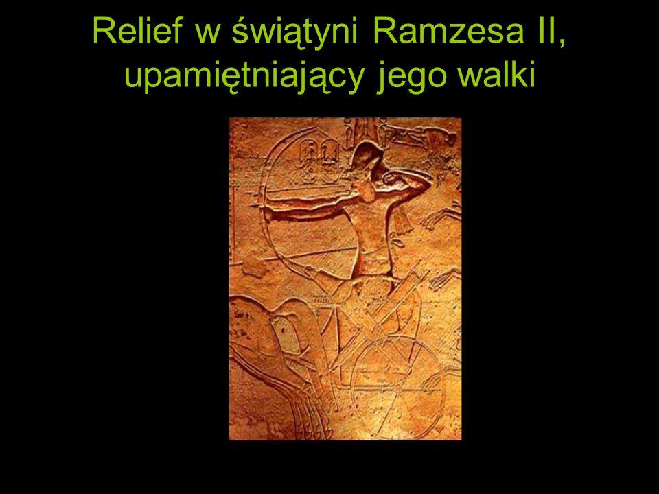 Relief w świątyni Ramzesa II, upamiętniający jego walki