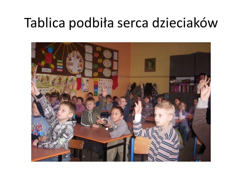 Tablica podbiła serca dzieciaków