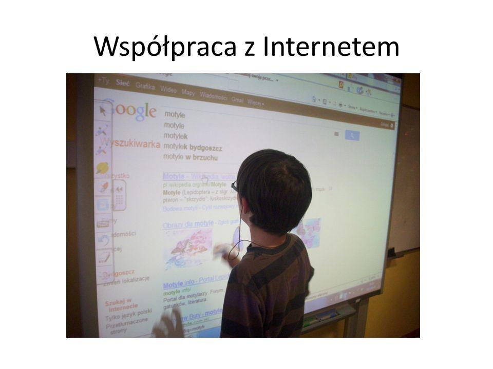 Współpraca z Internetem