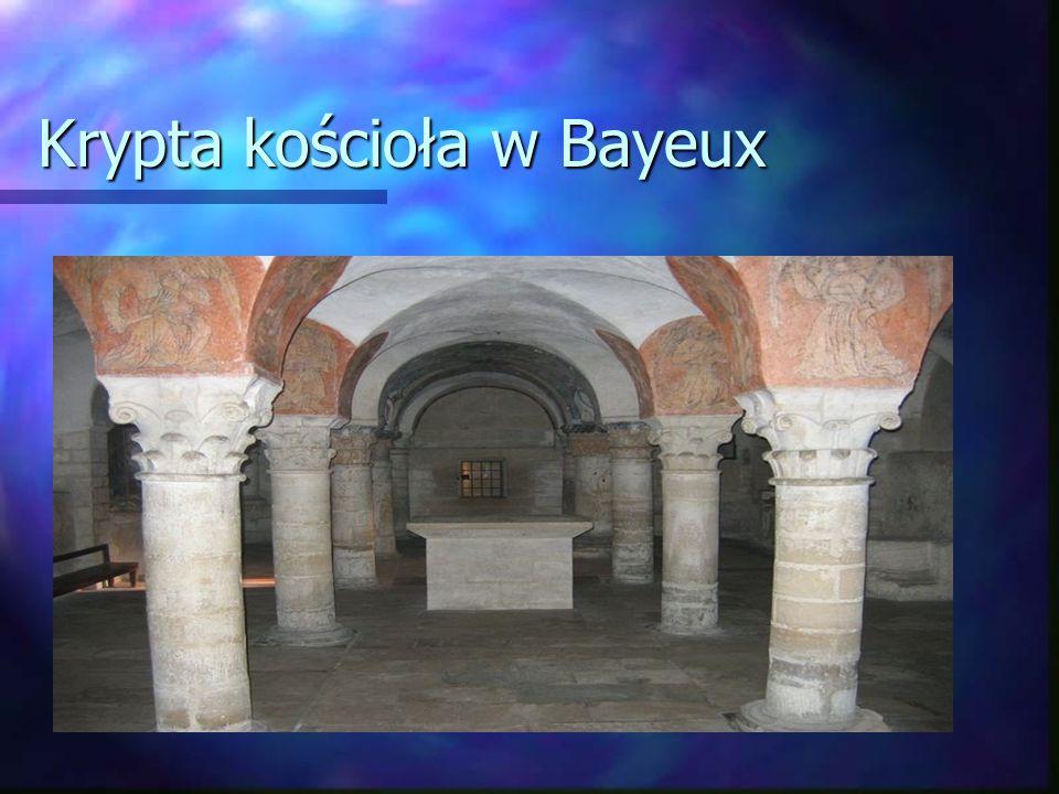 Krypta kościoła w Bayeux