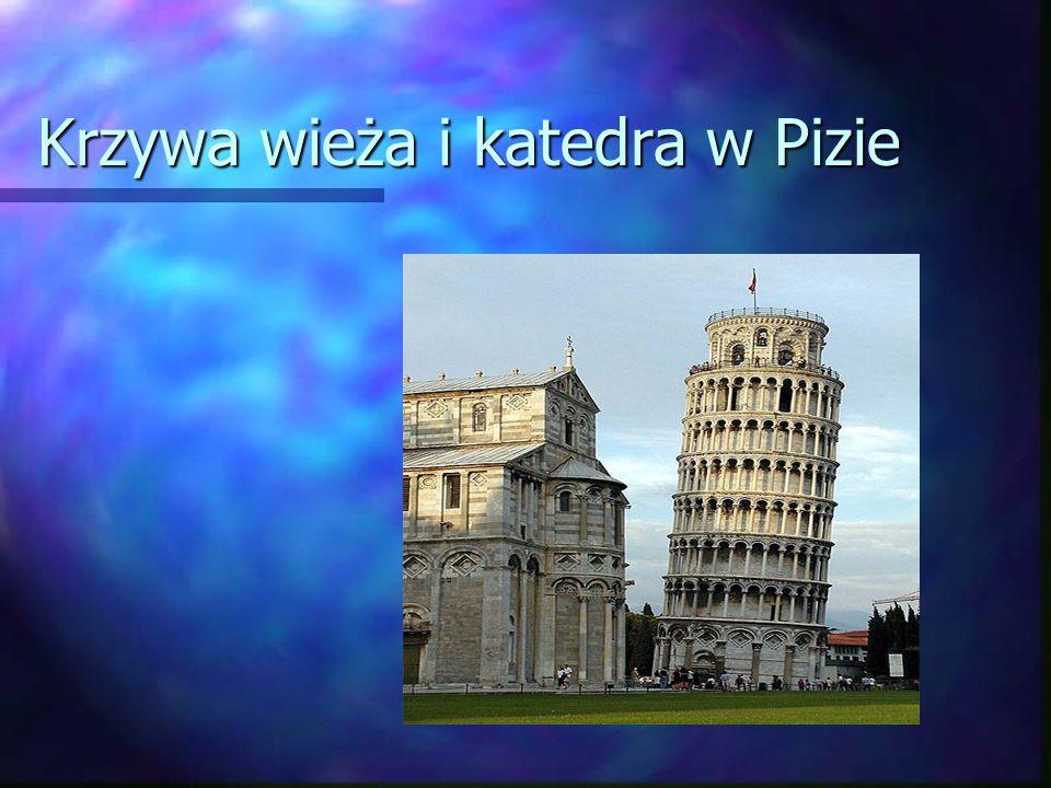 Krzywa wieża i katedra w Pizie