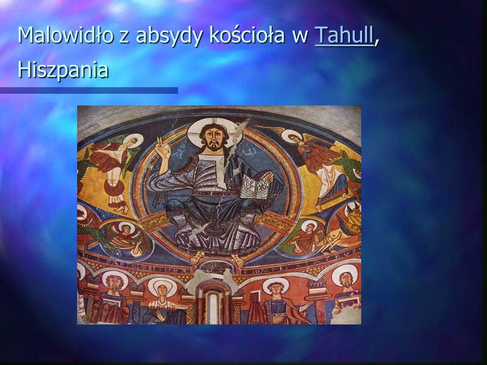 Malowidło z absydy kościoła w Tahull, Hiszpania Tahull