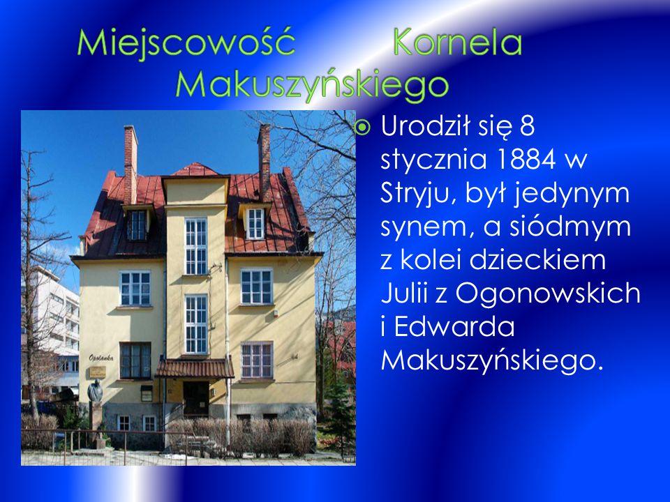  Urodził się 8 stycznia 1884 w Stryju, był jedynym synem, a siódmym z kolei dzieckiem Julii z Ogonowskich i Edwarda Makuszyńskiego.