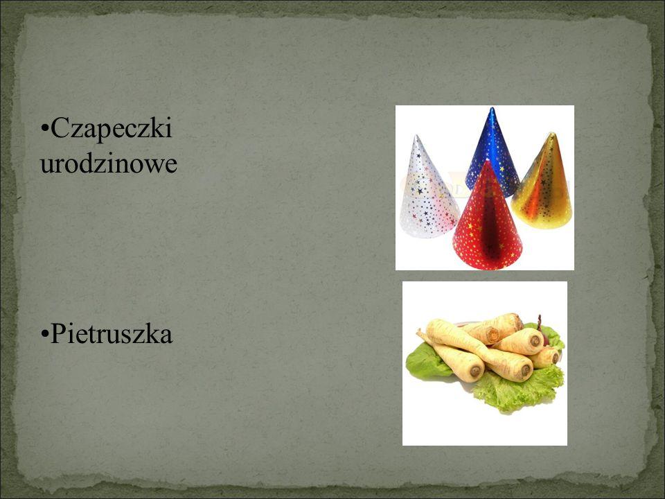 Przykłady stożków: