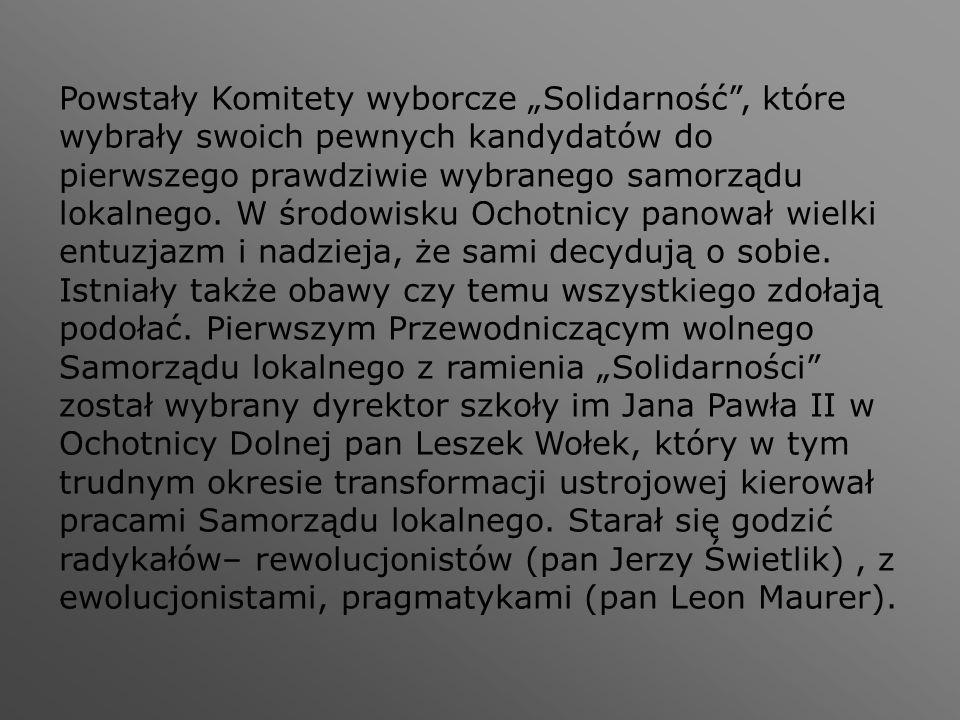 """Powstały Komitety wyborcze """"Solidarność"""", które wybrały swoich pewnych kandydatów do pierwszego prawdziwie wybranego samorządu lokalnego. W środowisku"""