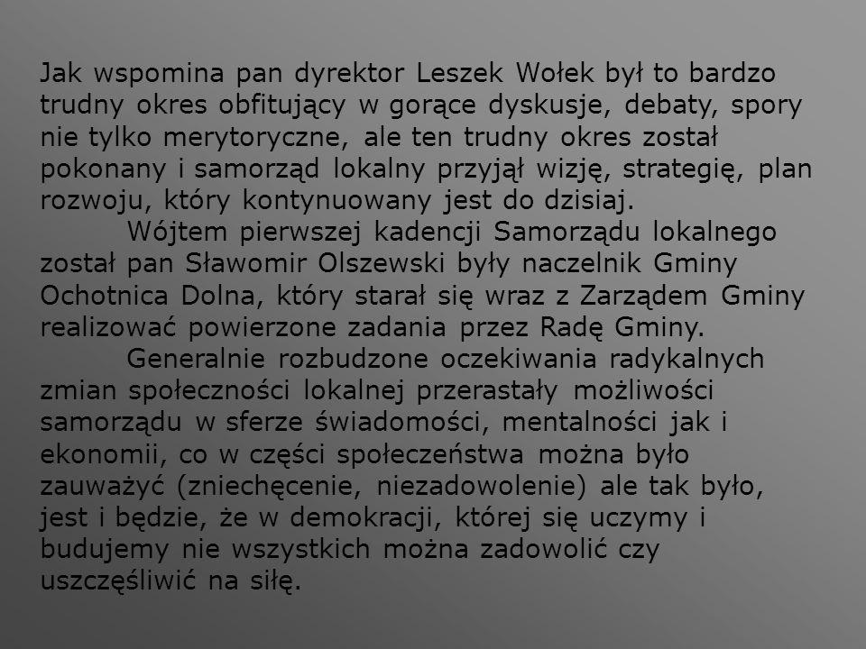 Jak wspomina pan dyrektor Leszek Wołek był to bardzo trudny okres obfitujący w gorące dyskusje, debaty, spory nie tylko merytoryczne, ale ten trudny o