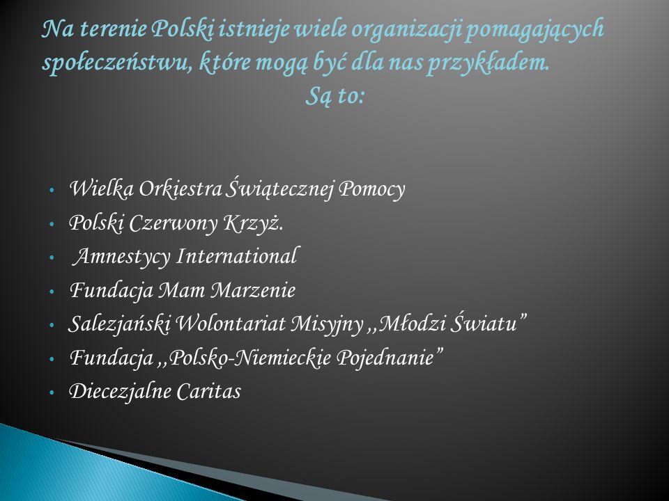Wielka Orkiestra Świątecznej Pomocy Polski Czerwony Krzyż. Amnestycy International Fundacja Mam Marzenie Salezjański Wolontariat Misyjny,,Młodzi Świat