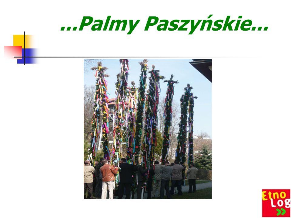 Tradycja Palm Wielkanocnych Wielki Tydzień, poprzedzający Wielkanoc, rozpoczyna Niedziela Palmowa, która upamiętnia wjazd Chrystusa do Jerozolimy i zg