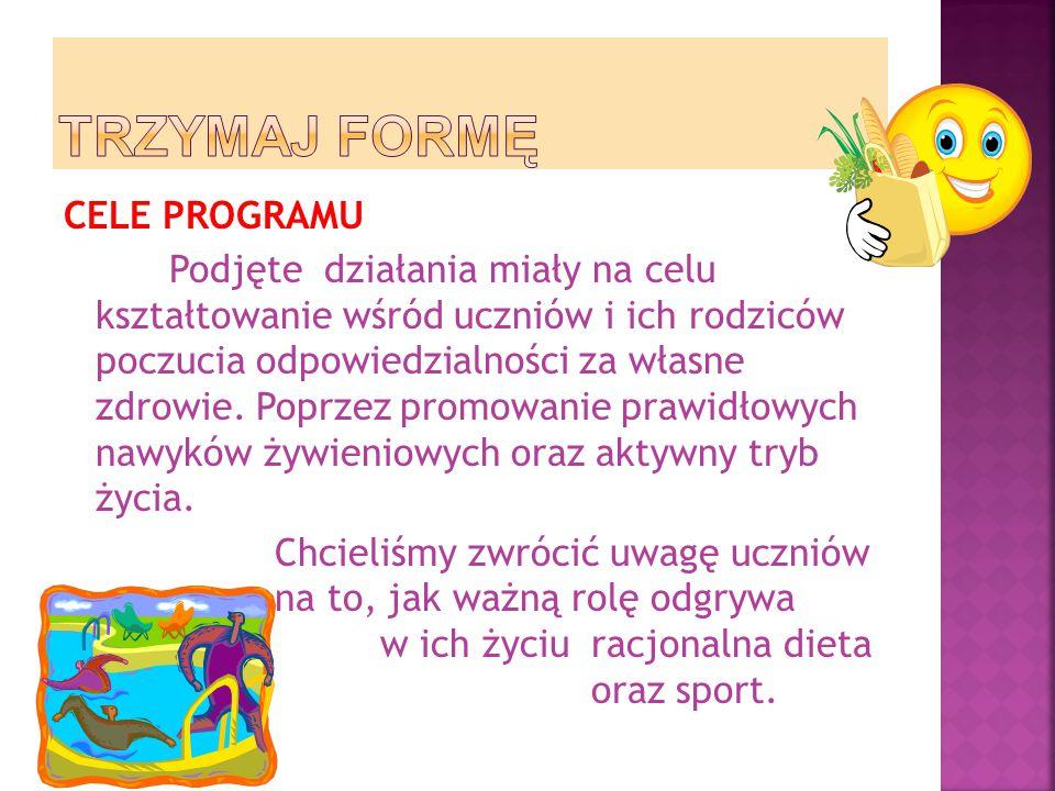  Program był realizowany w klasach gimnazjalnych, ogółem wzięło udział 32 uczniów.