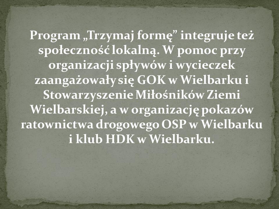 """Program """"Trzymaj formę"""" integruje też społeczność lokalną. W pomoc przy organizacji spływów i wycieczek zaangażowały się GOK w Wielbarku i Stowarzysze"""