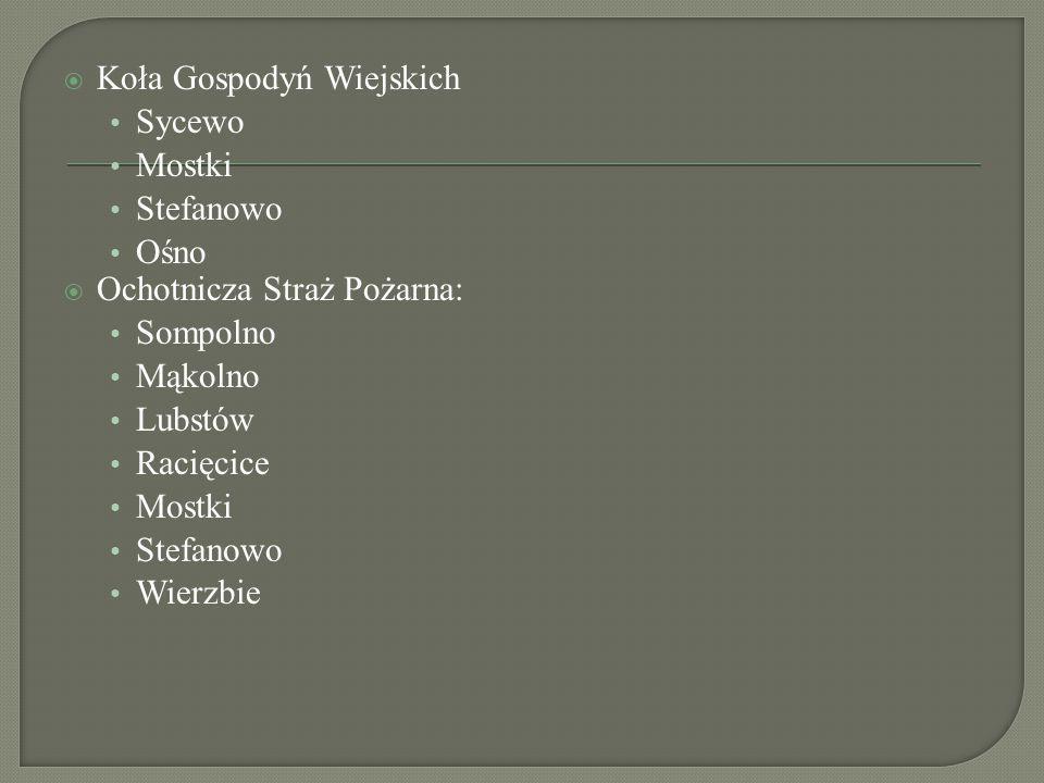  Oświata, kultura, życie społeczne  Biblioteka Publiczna w Sompolnie  Remont ratusza w Sompolnie  Budowa przystanku PKS  Budowa komisariatu POLIC