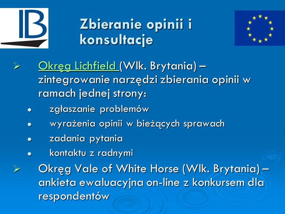 Zbieranie opinii i konsultacje  Okręg Lichfield (Wlk.