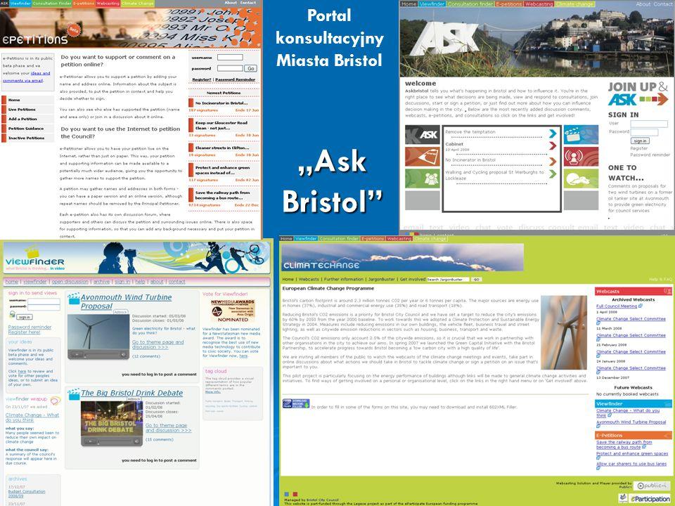 "Portal konsultacyjny Miasta Bristol ""Ask Bristol"