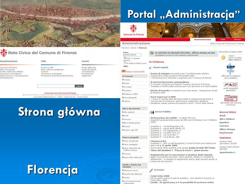 """Portal """" Administracja Strona główna Florencja"""