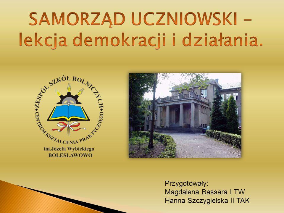 Przygotowały: Magdalena Bassara I TW Hanna Szczygielska II TAK
